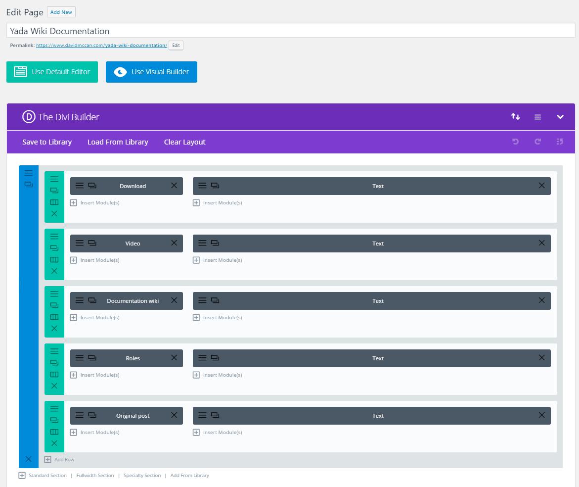 divi builder wiki doc block