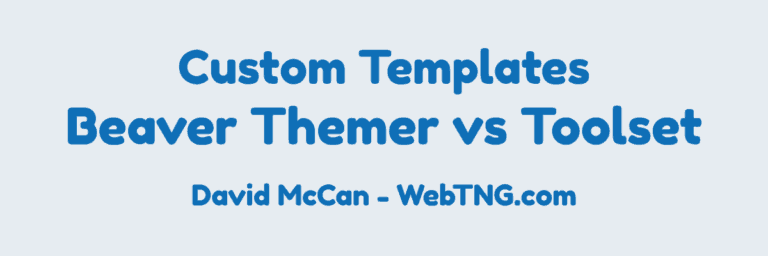 Beaver Themer vs Toolset