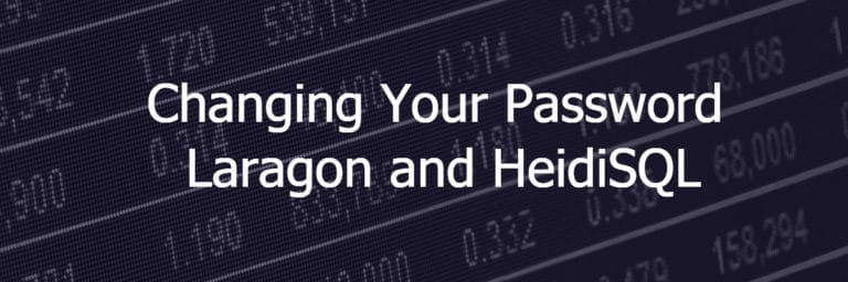 Changing Your WordPress Password – Laragon and HeidiSQL