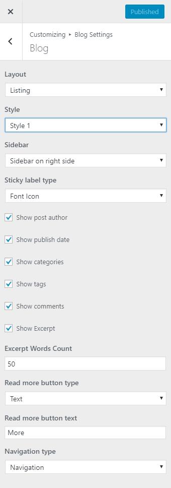 kava blog layout options