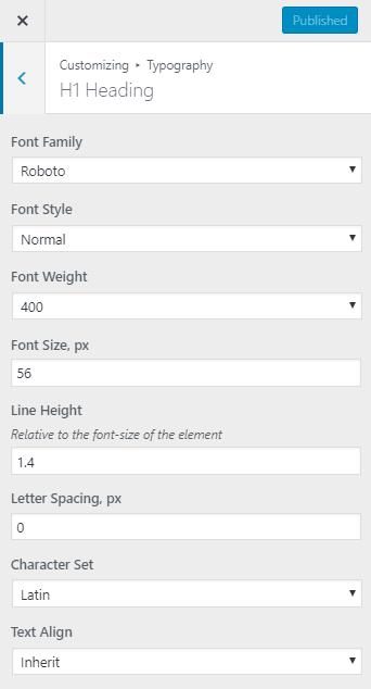 kava typography options two