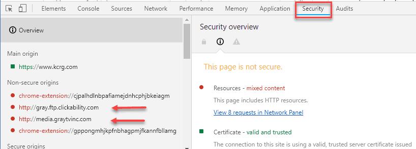 chrome security panel