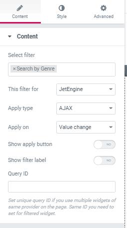 crocoblock search filter