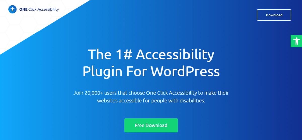one click accessibility website