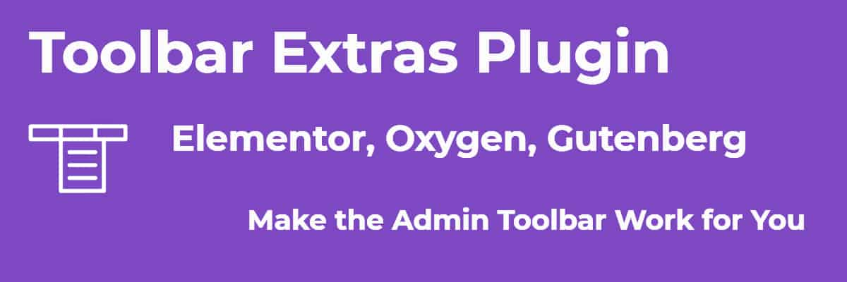 toolbar extras