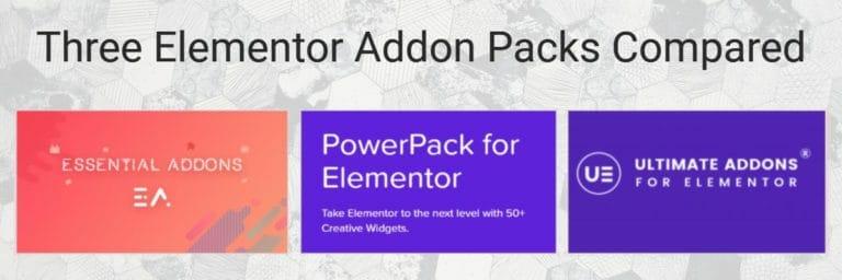Three Elementor Addon Packs Compared
