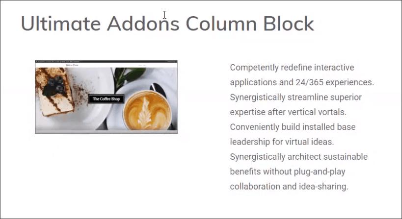 ultimate addons for gutenberg columns block