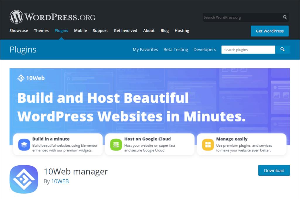 10Web WordPress Plugin