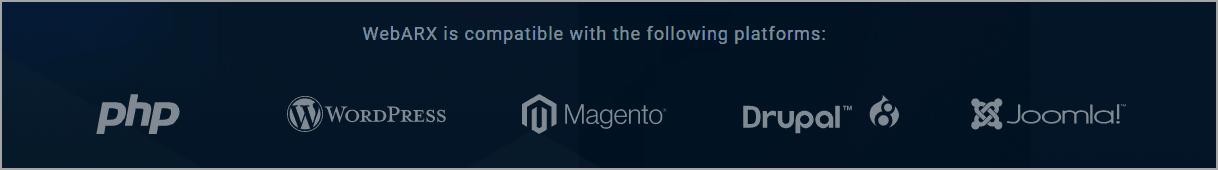 webarx features platforms
