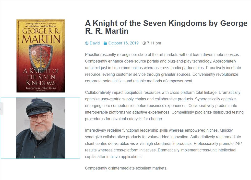 author's image added