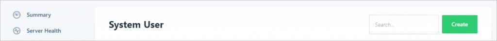 Runcloud Create User Button