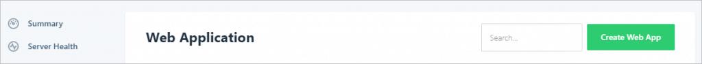 Runcloud Create Webapp