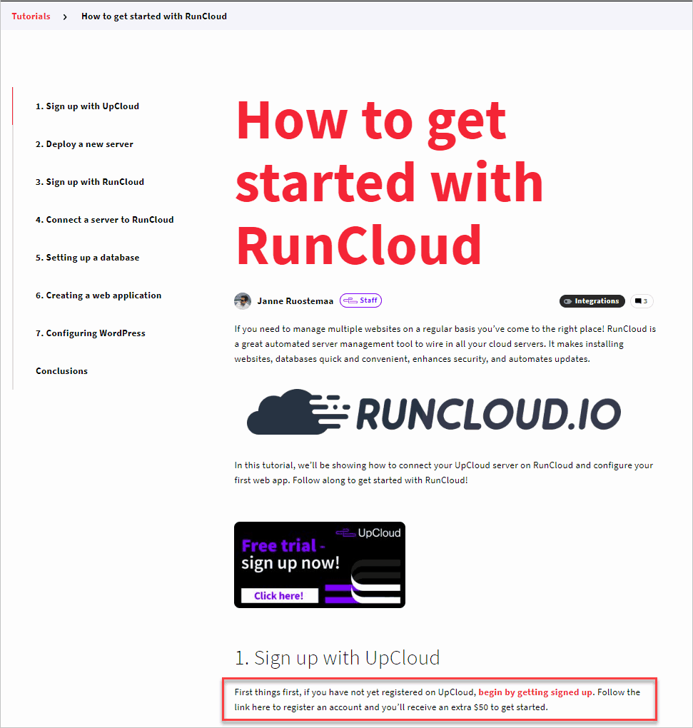 Upcloud Tutorial With Promotion