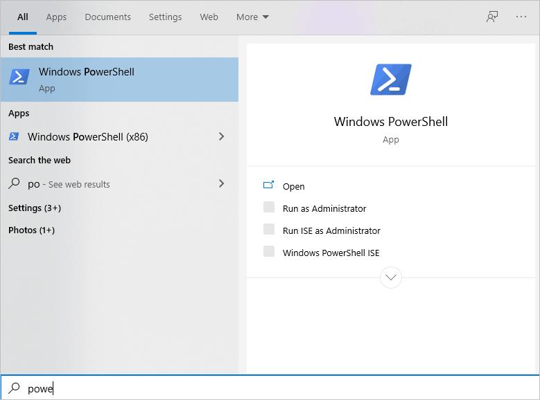 Windows Search Powershell