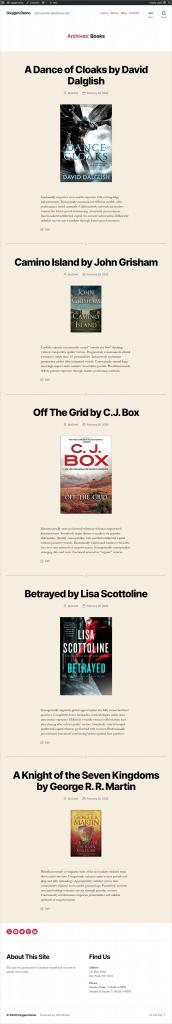 Default Book Archive Layout 1