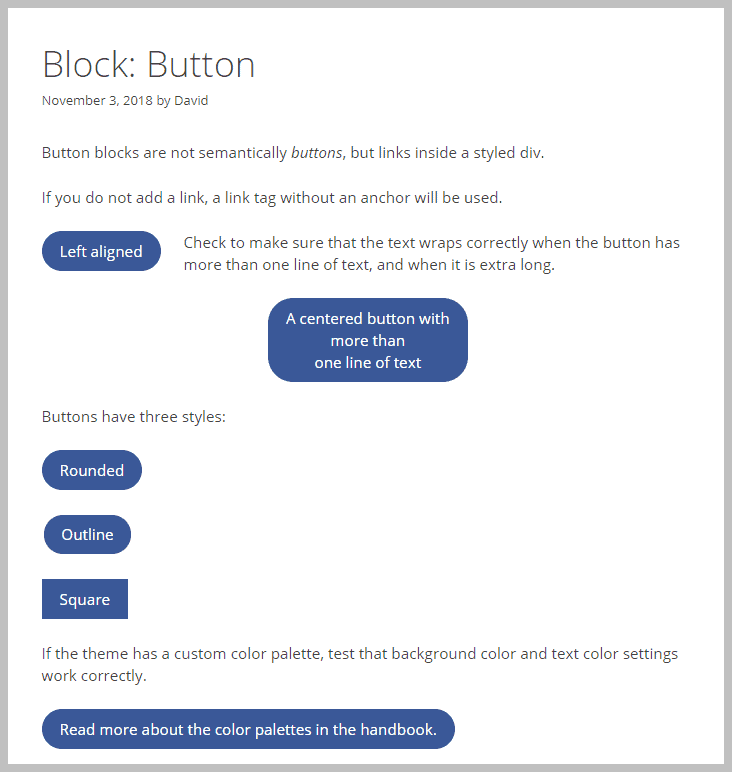 Generate Press Button Block