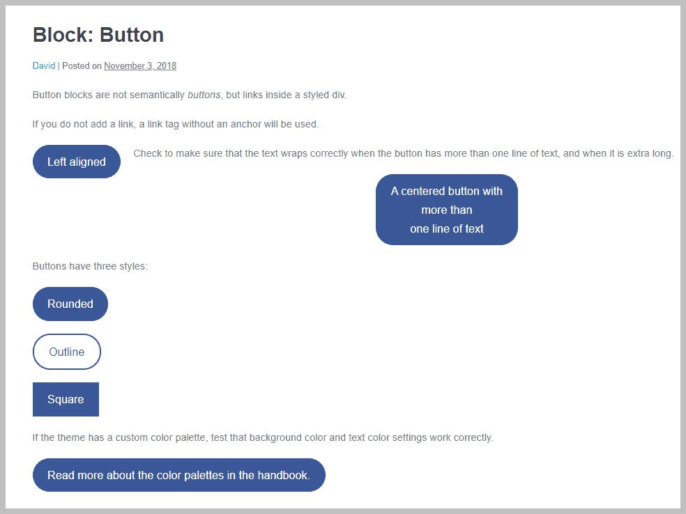 Page Builder Framework Button Block