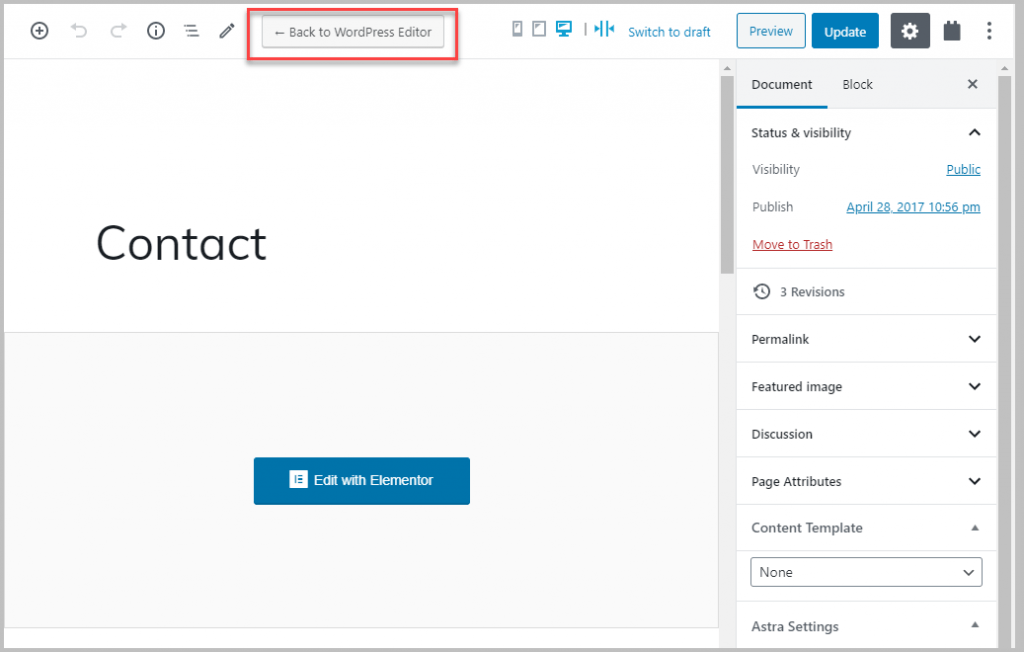Contact Page In Admin