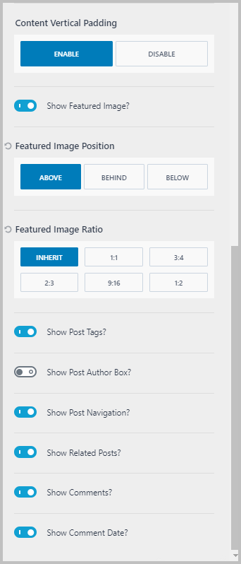 Other Single Post Settings