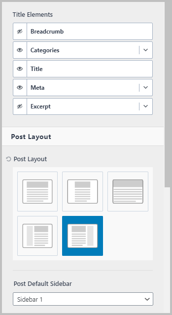 Single Post Meta Elements