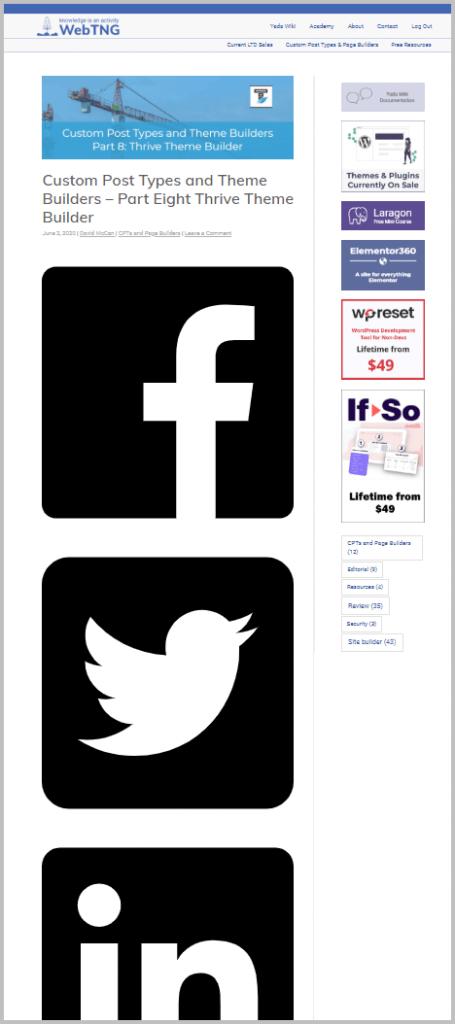 Uag Social Buttons