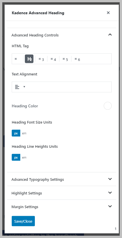 Popup With Block Settings