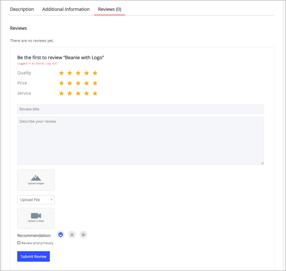 Reviewx Review Forms
