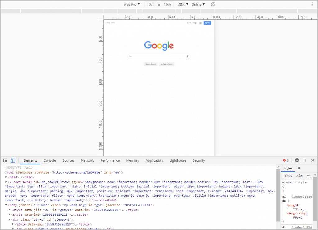 Google Dev Tools
