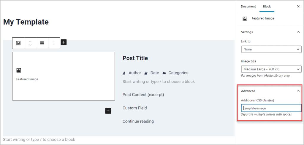 Add A Custom Class In The Advanced Tab