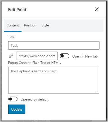 Hotspot Edit Window