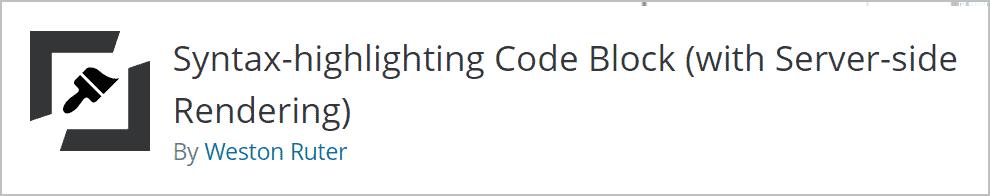 Syntax Highlighting Code Block