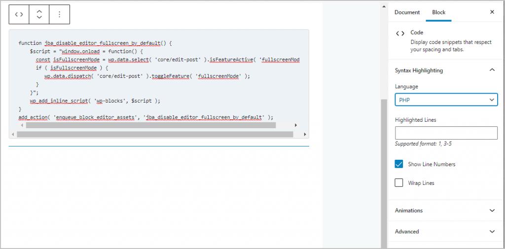 Syntax Highlighting Settings