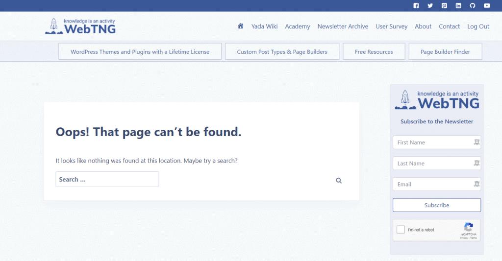 Kadence Theme 404 Page