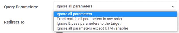 Query Parameter Options