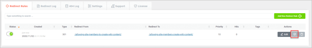 Redirect Verify Button