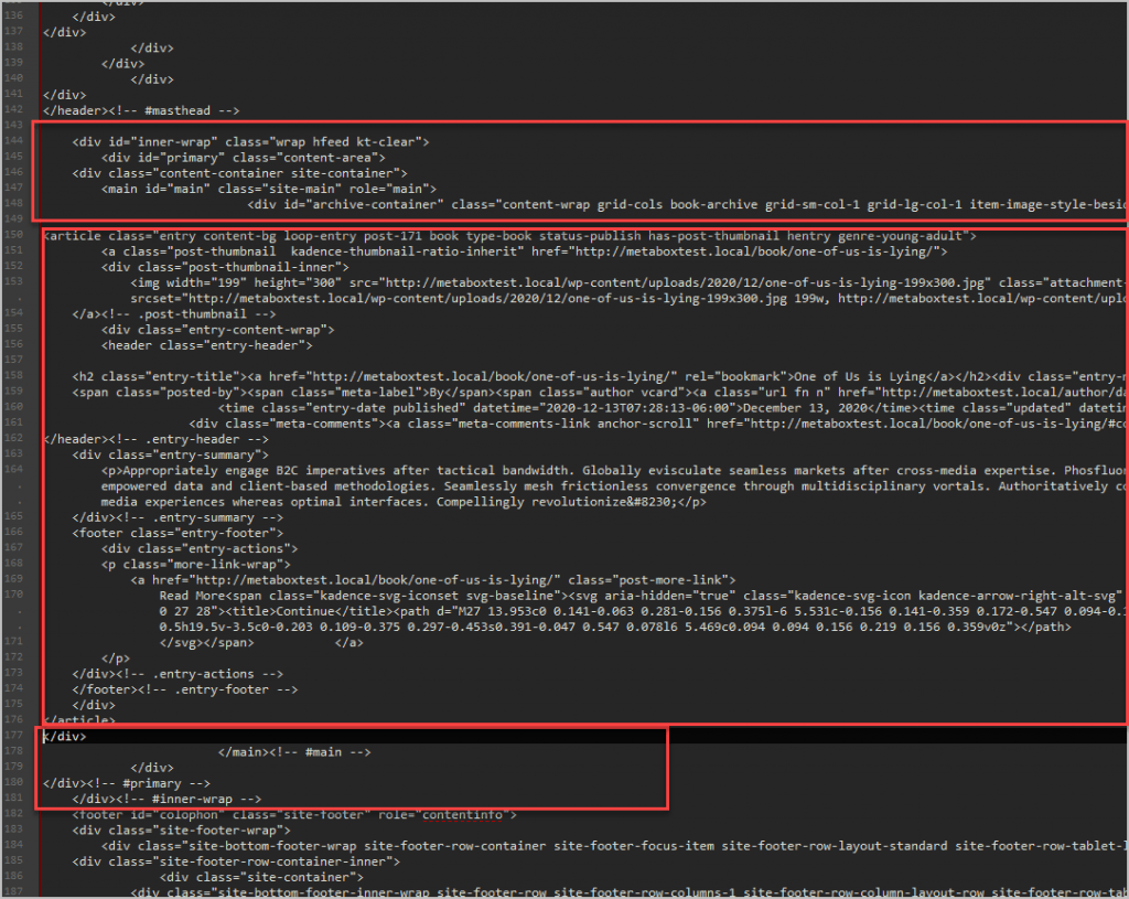 Default Archive Source