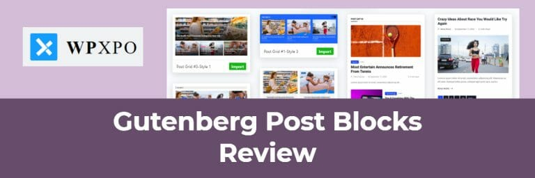 Gutenberg Post Blocks Review