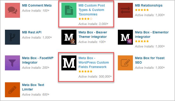 Meta Box Free Plugins