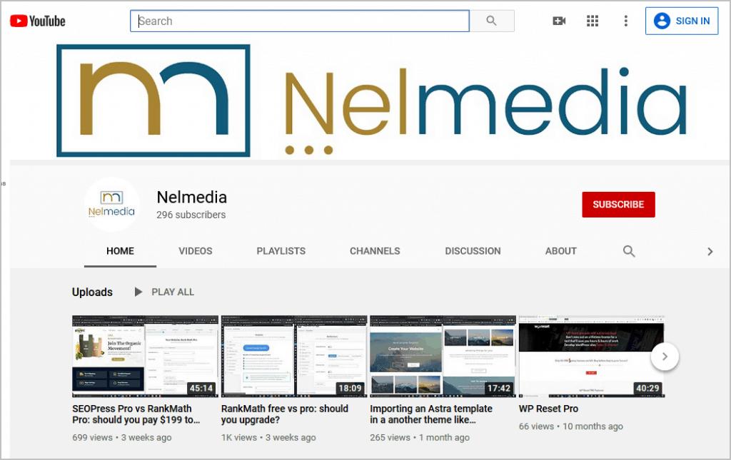Nelmedia On Youtube