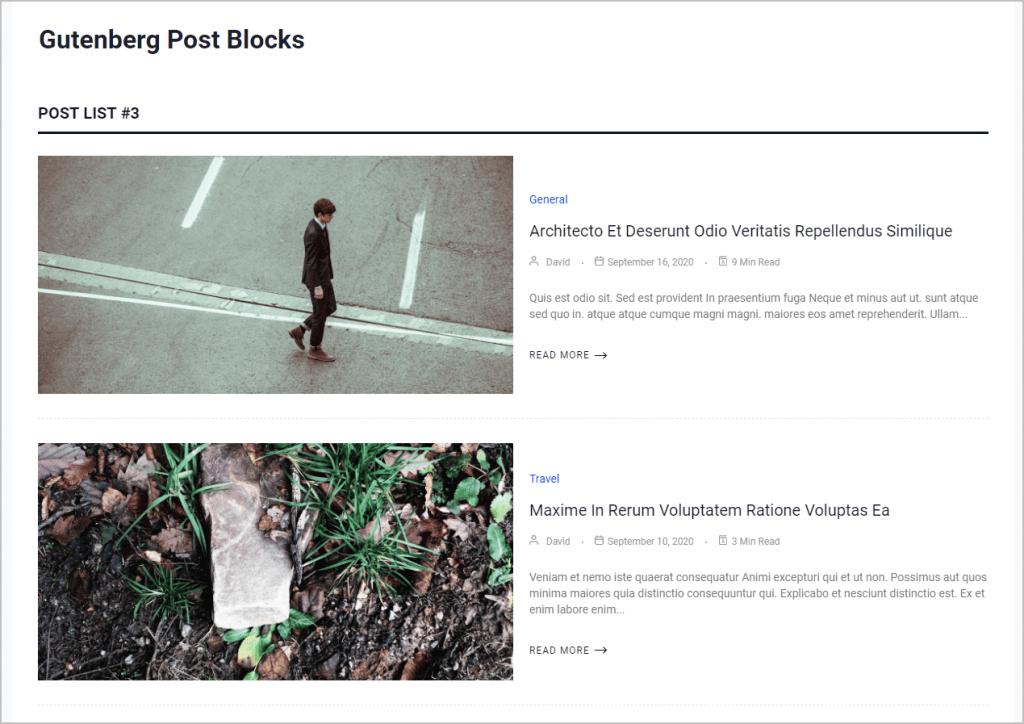 Post List 3 Starting
