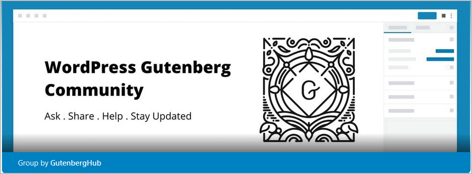 Wordpress Gutenberg Community On Facebook