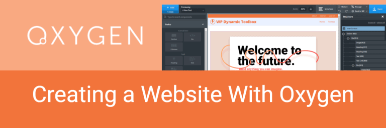 Creating a Website with Oxygen
