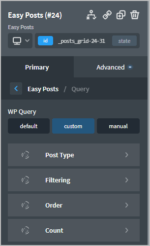 Easy Posts Query Options