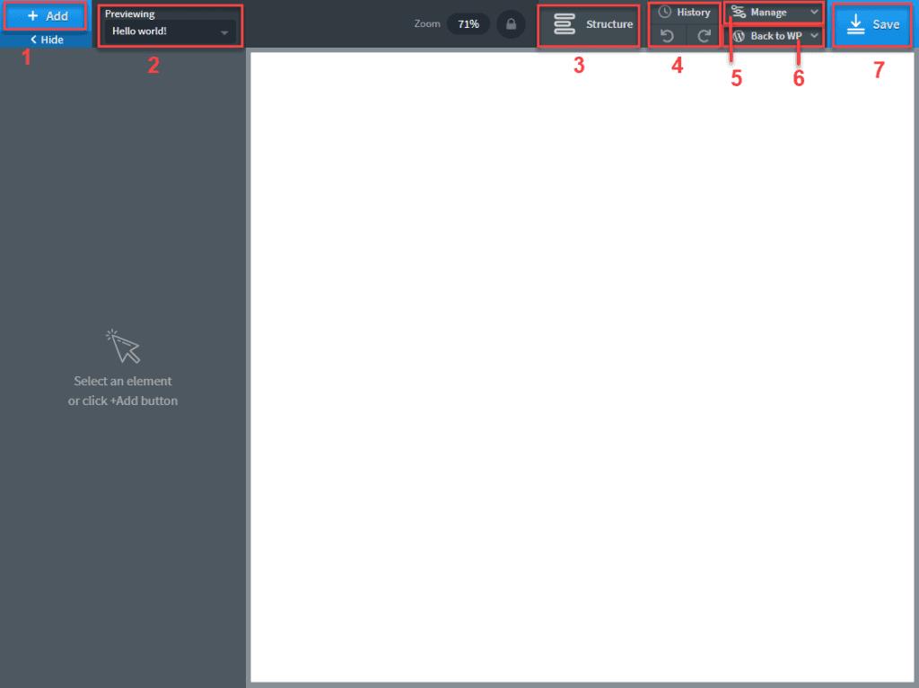 Empty Oxygen Editor
