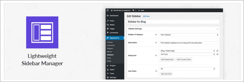 Lightweight Sidebar Manager