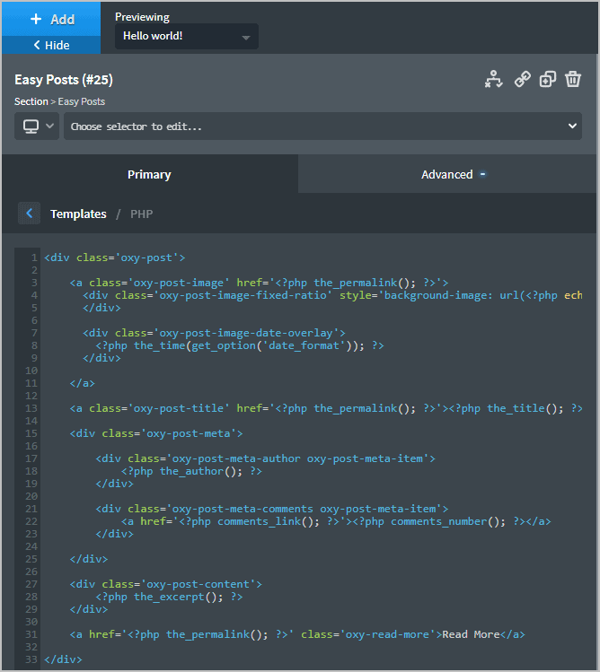 Some Elements Provide Direct Access To The Html And Php
