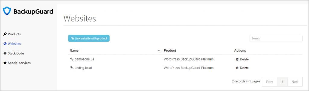 backupguard website