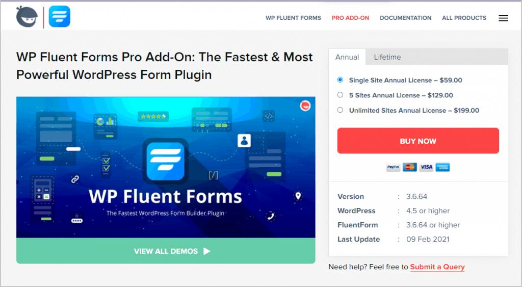 fluent forms website