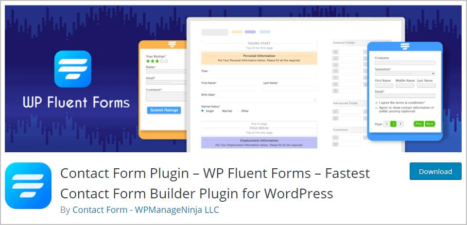 fluent forms wordpress org