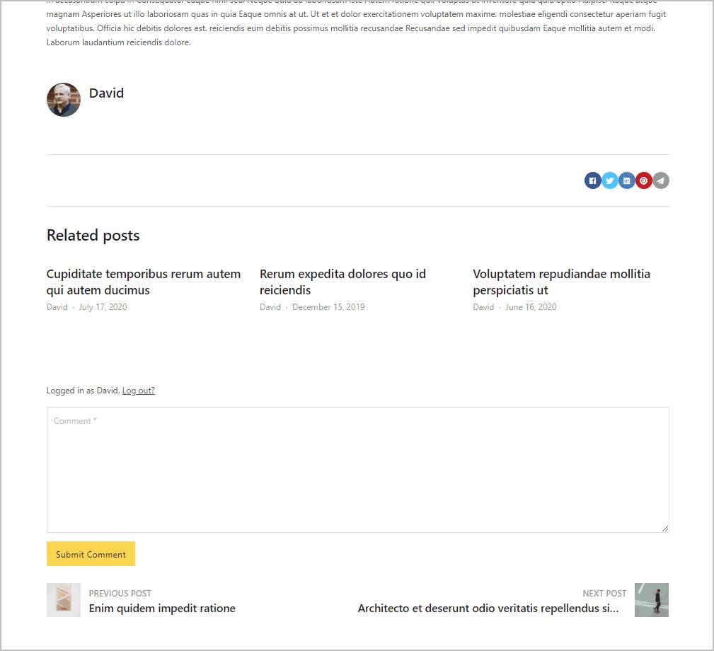 single post bottom of page